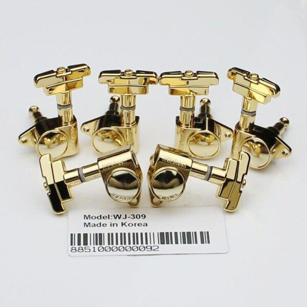 New 3R3L WILKINSON WJ-309 3x3 Gold Guitar Tuners Art Deco Rotomatic Imperial Style Head Malaysia