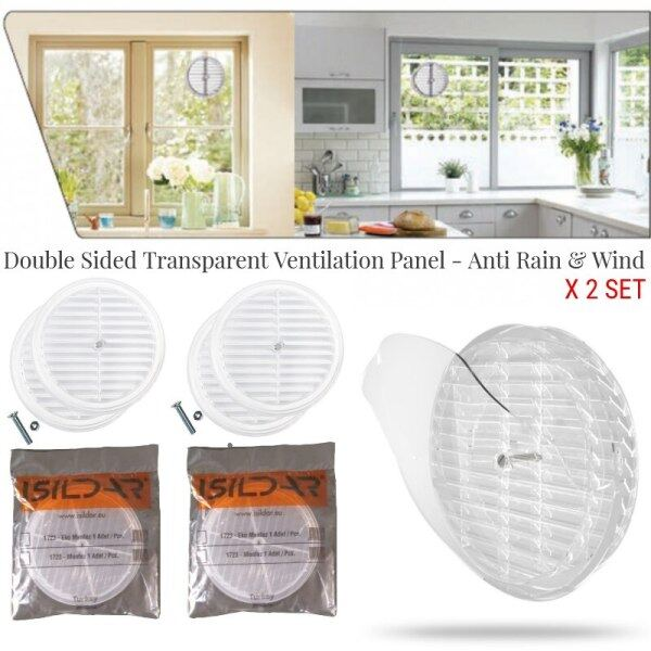 Multi-Purpose Transparent Ventilation Panel Glass Grille Fresh Air Circulation Culvert Double Sided For Home Room Kitchen Bath