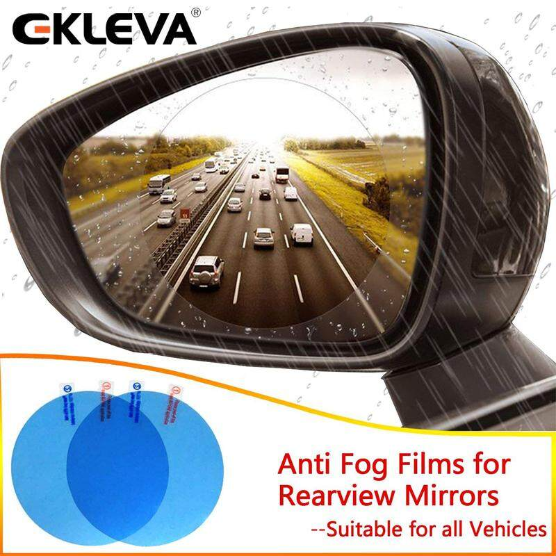 Ekleva Car Rearview Mirror Protective Anti Fog, Rainproof Film & Anti-Glare Scratch-Proof Waterproof Protective Film For Side Mirror, Suitable For All Automobile & Vehicle Models, Pack Of 2 By Ekleva Official Store.