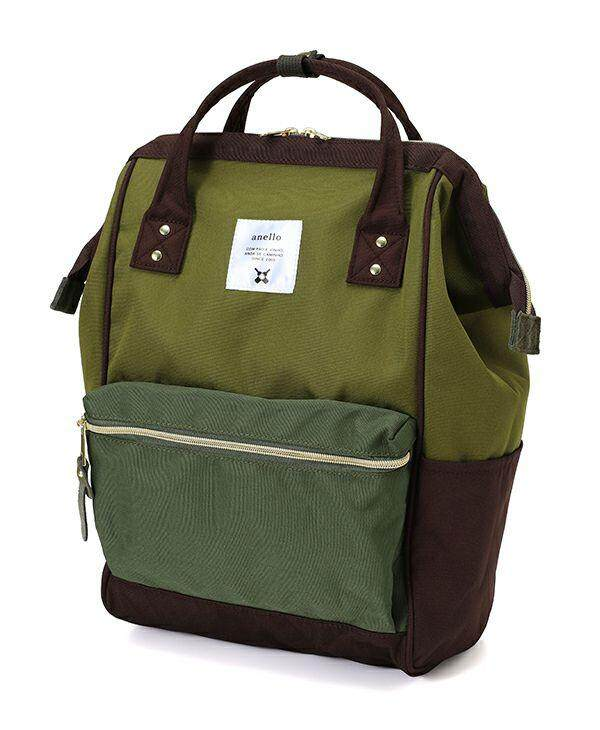 Anello Mouthpiece Hinge Clasp Backpack Rucksack Khaki Multi Colour READY  STOCK 8a7044af27