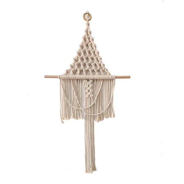 Nordic Simple Tassel Tapestry Hand-woven Bohemian Carpet Home Ornament Wedding Background Decoration