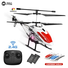 Holy Stone&DEERC DE51 Mini Metal RC Remote Control Helicopter Altitude Hold RC Airplane with Gyro for Baby Boy Girl Beginner,2.4GHz Aircraft Indoor Flying Toy with 3 Channel,High&Low Speed,LED Light,Fairy Robots Flying Toys for Kids