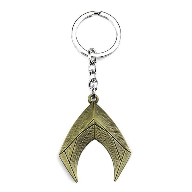 Fancyqube 1 PC Baru COSPLAY Komik Aquaman Justice League Tanda Gantungan Kunci Logam Gantungan Kunci Liontin