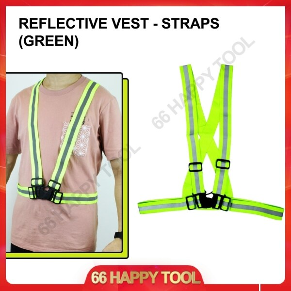 Reflective Vest with Grey Straps Safety Coat Ready Stock Elastic Belt Fabric Reflecting High Visibility Jaket Keselamatan