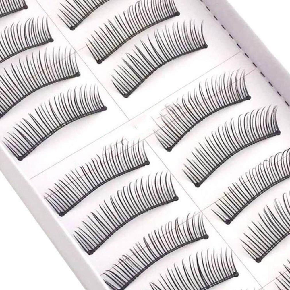 Allwin 10 คู่ขนตาปลอมขนตาปลอมขนตาหนาตาธรรมชาติขนตาทำด้วยมือ By Allwin2015.