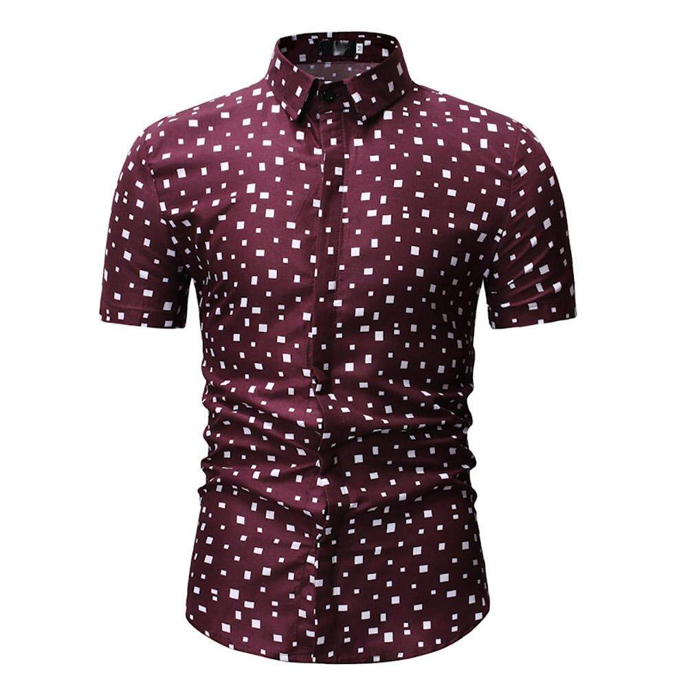 b8f170216 Men's Casual Shirt Summer Floral Printed Men Short Sleeve
