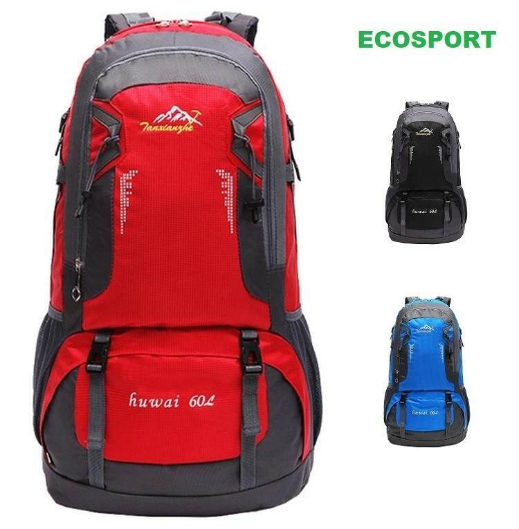 53e6828f80b3 EcoSport 60L Waterproof Hiking Backpack Travel Backpack Bagpack Outdoor  Backpack Solely Distributed By FLORASUN (Red