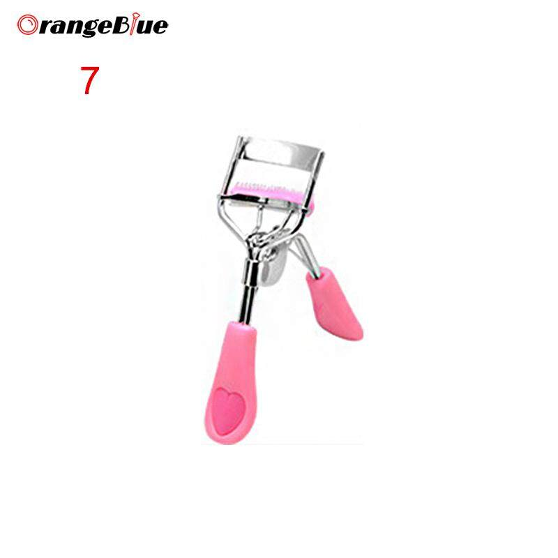 OBlue Eyelash Curler with Comb Heart Tweezers Curling Eyelash Clip Cosmetic Eye Beauty Mascara Tool Philippines