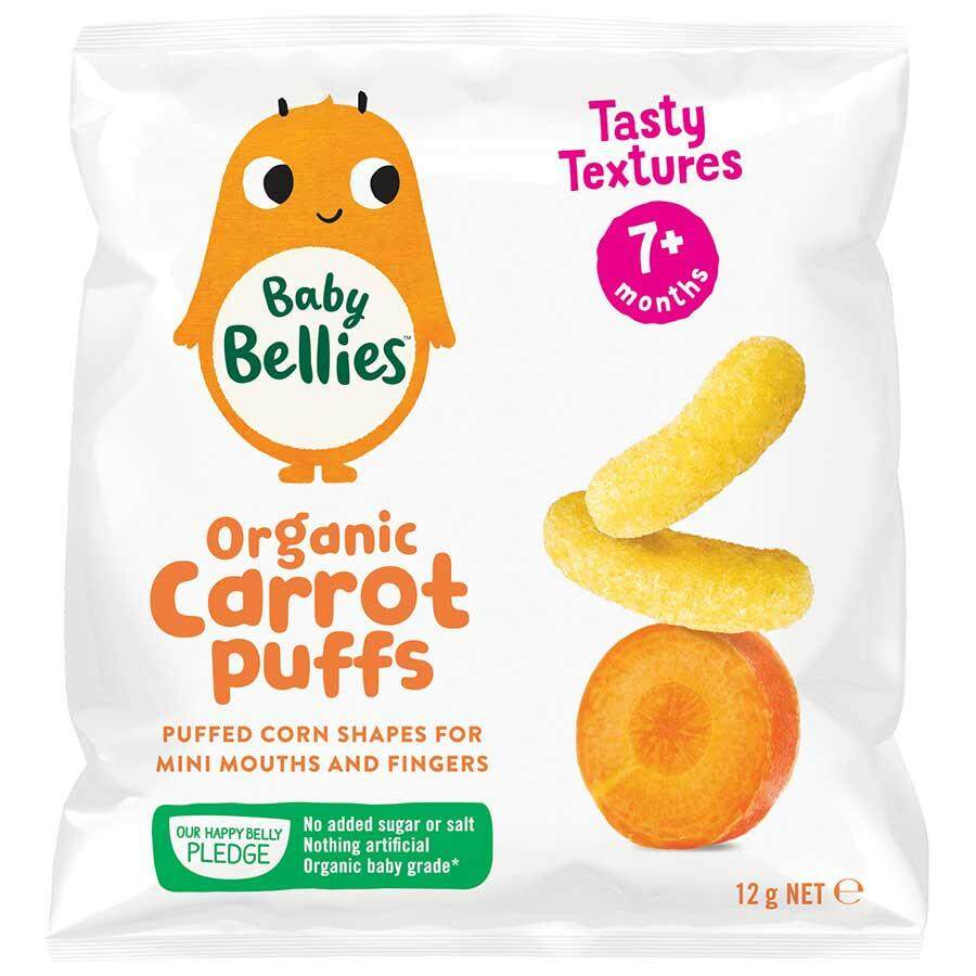 Little Bellies Baby Puffs - Carrot (12g)
