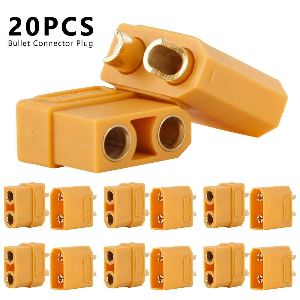 20Pcs XT90 RC Battery Socket Connector XT-90 Female Male Power Bullet Plug