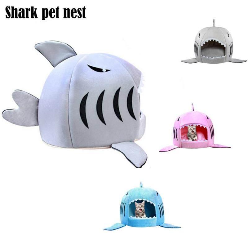 Dozzlor Shark Nhà Cho Mèo Giường Giỏ Nhà Thú Cưng Ngủ Cá Mập Mèo Thảm Tổ Chim Túi Ngủ Chó Nhỏ Vừa Chăn Lounger Cho Động Vật