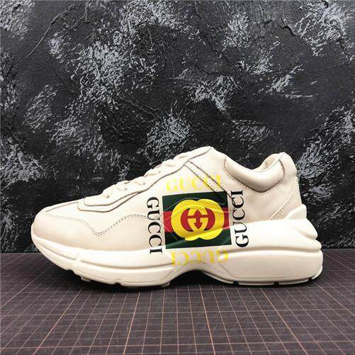 5cac945fd2bd Gucci Official Sports Sneakers Shoes Gucci Rhyton Vintage Trainer Sneaker  Apricot Global Sales (EU