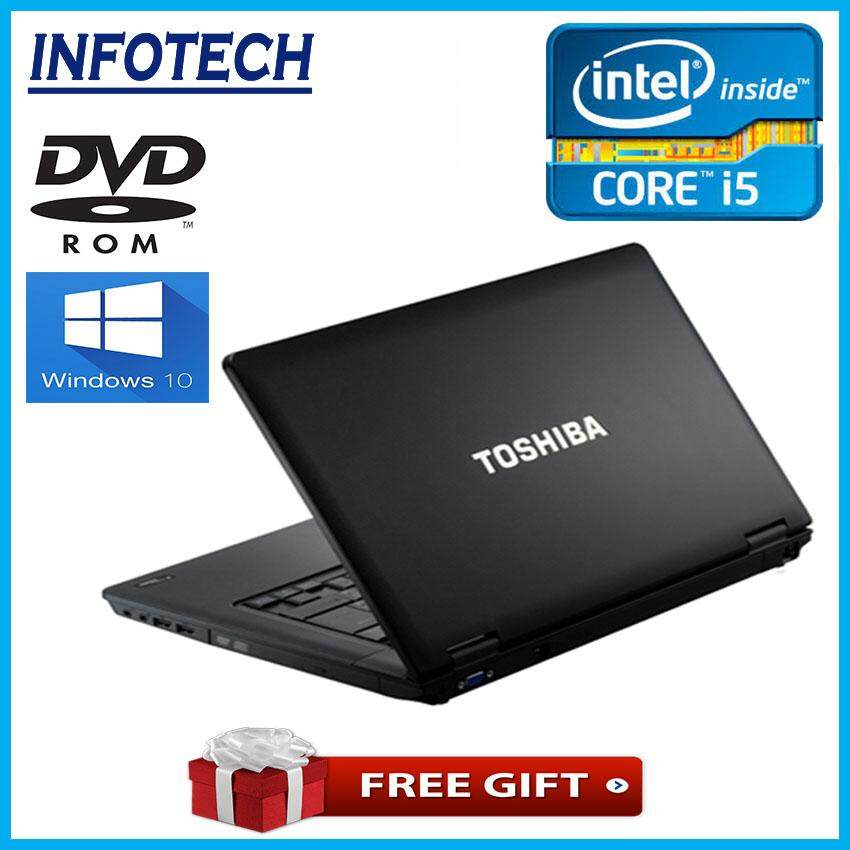 Toshiba  Gaming and Work ( Intel core i5 , 8GB or 4gb ddr3 ram , 320gb hdd or 240gb ssd , dvd , win10pro , 15.6 ) dynabook satellite LAPTOP NOTEBOOK (Refurbished) Malaysia