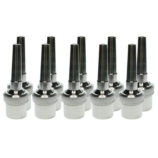MagiDeal 10Pcs Adjustable Stainless Steel Universal Straight Garden Fountain Nozzle DN15