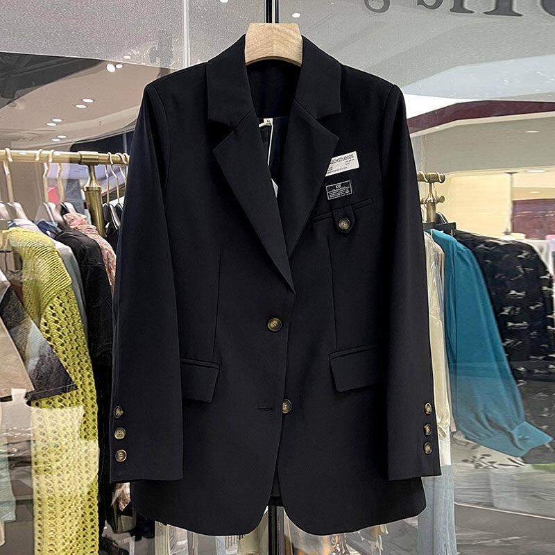 Áo Khoác Mỏng Hàn Quốc Mùa Xuân Và Mùa Thu, Bộ Đồ Một Hàng Khuy Ve Áo Sinh Viên Thường Ngày