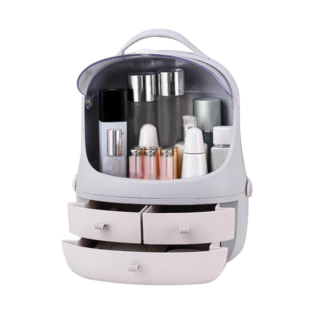Hot Home Desktop Makeup Storage Box Brush Holder Jewelry Organizer Case Multi-functional Plastic Drawer Cosmetic Organizer Rack