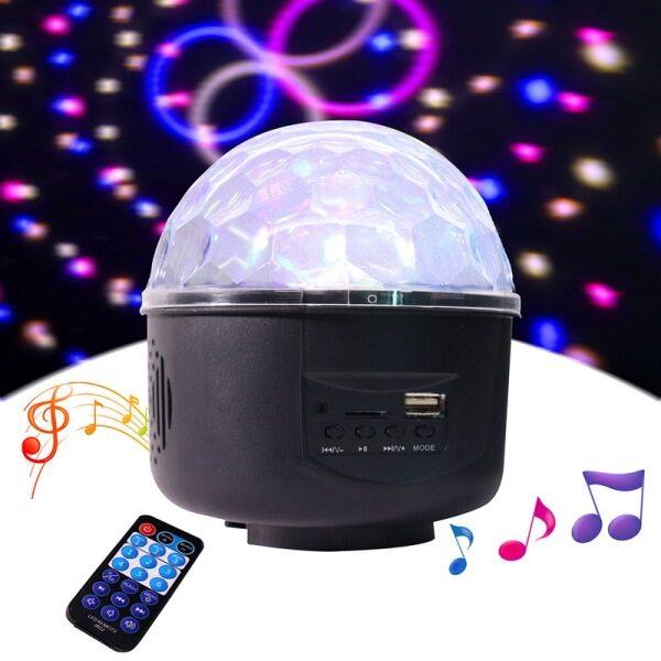 Bảng giá Đèn LED Hiệu Ứng Sân Khấu Nhạc MP3, Đèn Sân Khấu Pha Lê RGB Mini Đèn Ma Thuật Nhiều Màu Cắm Chuẩn CHÂU ÂU/Mỹ/Anh, Với Điều Khiển Từ Xa