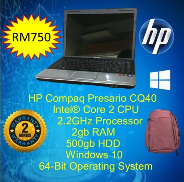 HP Compaq Presario CQ40 [SECONDHAND/USED/REFURBISHED] Malaysia