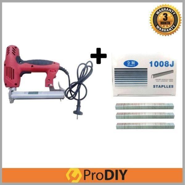 1022J Professional Pro Electric Stapler Gun + 1008J 3,000pcs Staples