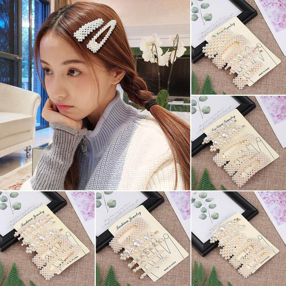 a7168b439e413 Gold New 1 Set Korean INS Vintage Pearl Hairpins Fashion Hair Accessories  Imitiation Pearl Hair Clips