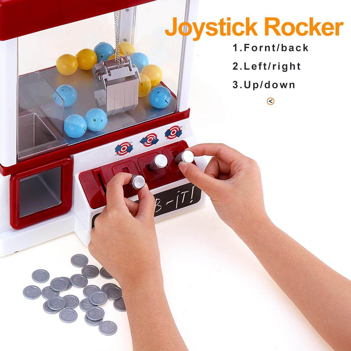 Carnival Claw Game Machine Mini Arcade Grabber Crane Blue + 24 toys