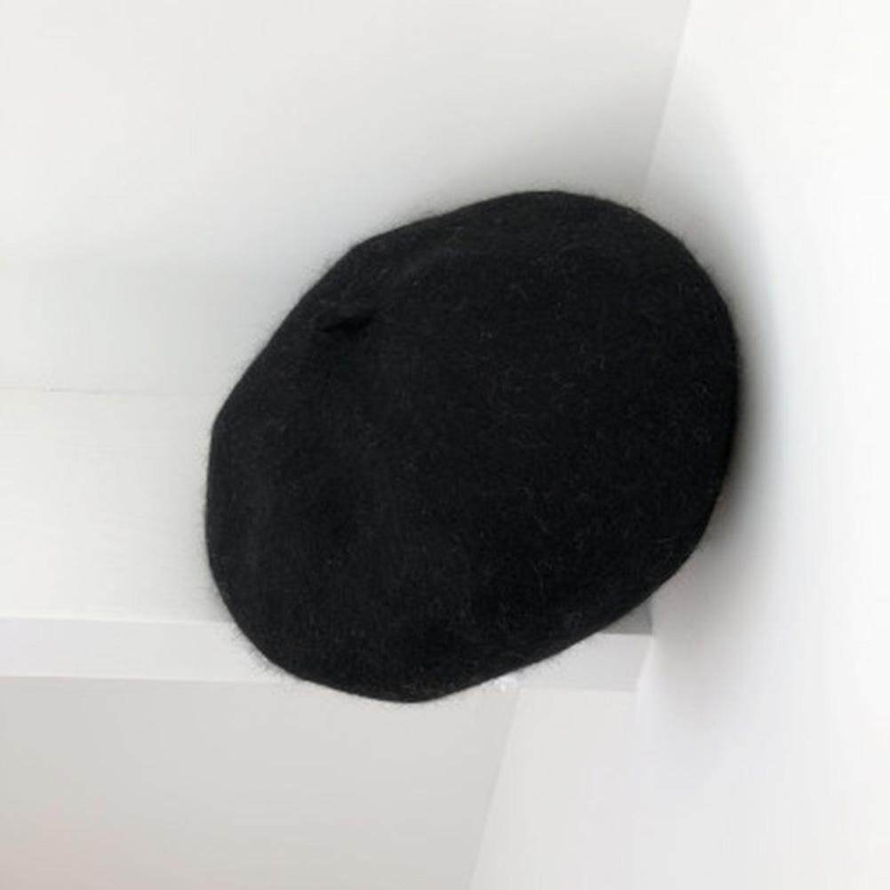 d2f4422620e Women Beanie Artificial Woolen Baret Elastic Lady Hat Retro Lightweight  Solid
