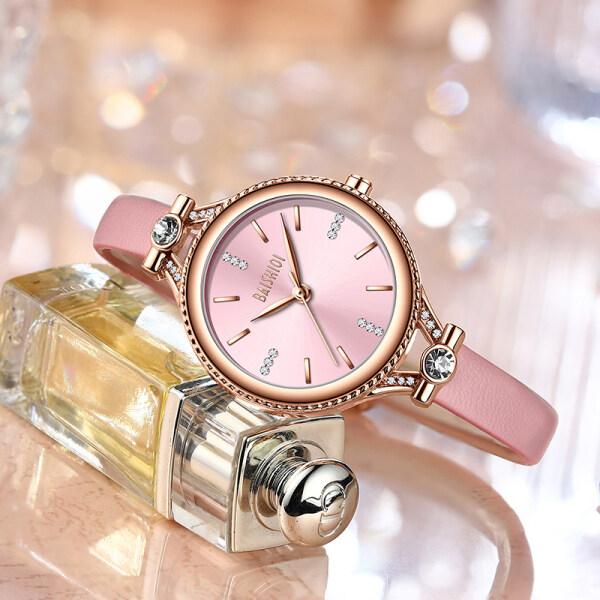 BIDEN Top Luxury Brand Womens Simple Fashion Watch Waterproof Elegant Wrist Watch Casual Leather Belt Business Quartz Women Watch Malaysia