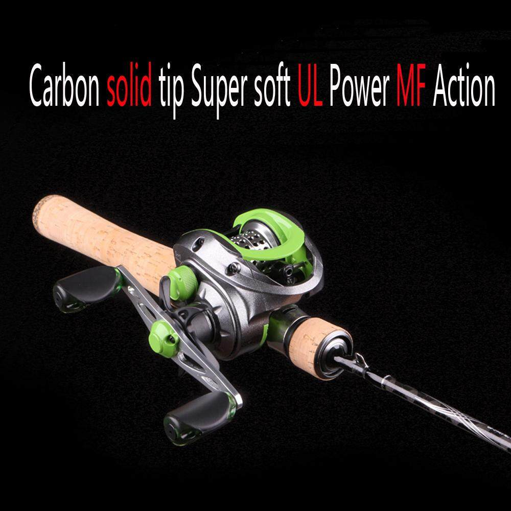ปั่น/คันเบ็ดตกปลาคาร์บอนปลายแข็งนุ่มพิเศษ UL Power MF Action เบ็ดตกปลา