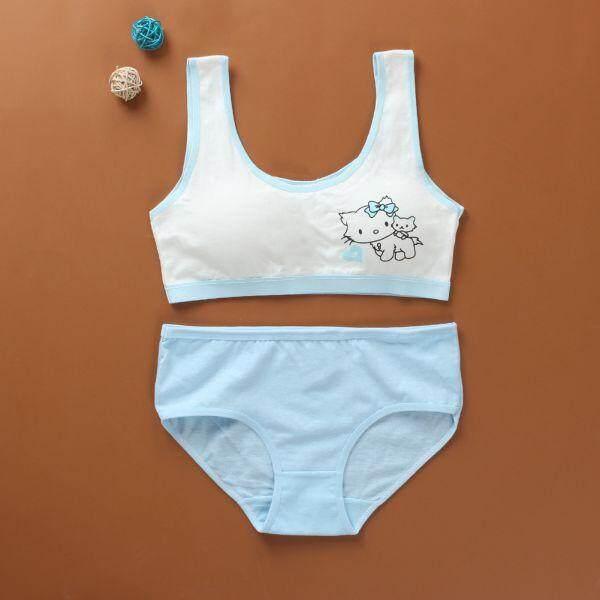 Giá bán Áo Lót nữ Quần Lót Cotton Cho Thiếu Niên Huấn Luyện Bộ Áo Ngực cho Học Sinh Sinh Viên Tuổi Dậy Thì Áo Yếm Áo Lót cho Bé Gái