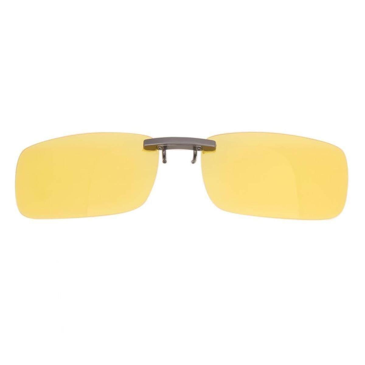 UV400 Unisex Night Driving Glasses Anti Glare Vision Sunglasses Clip (1#)