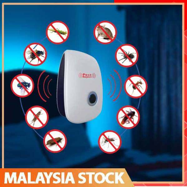 Reject Killer Electric Ultrasonic Pest Repeller Anti Mosquito Rodent Control Bug Cockroach Insect Repellent EU Plug