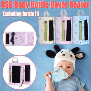 Bình Giữ Nhiệt Cầm Tay Túi Bọc USB Đựng Nước Sữa Trẻ Em Du Lịch-Màu Xanh thumbnail