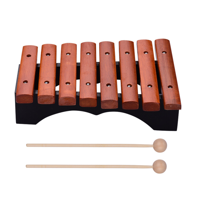 Musical Instrument 8 Notes Wood Xylophone Includes 2 Wooden Mallets for Children Kids Educational Music Toys Malaysia