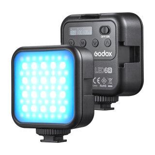 Đèn LED Video Godox LITEMONS LED6R RGB, Đèn Bổ Sung Mini Có Thể Sạc Lại Được 13 Hiệu Ứng Ánh Sáng Có Thể Điều Chỉnh Độ Sáng 3200K-6500K Hỗ Trợ Hấp Phụ Từ Tính Với 3 Giày Lạnh Giá Treo Cho Vlog Live Chụp Ảnh Sản Phẩm Trực Tuyến thumbnail