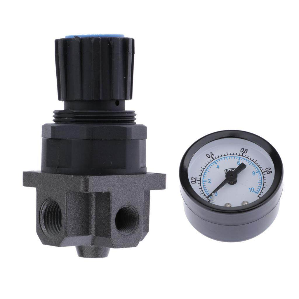 BolehDeals Plastic Air Pressure Relief Valve Compressor with Pressure Gauge - R200,1/4
