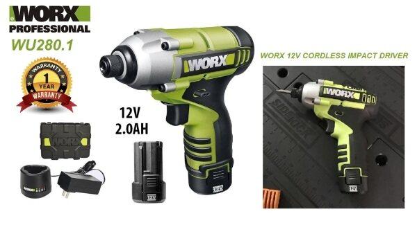 Worx 12V Li-ion Cordless 1/4 Hex Impact Driver