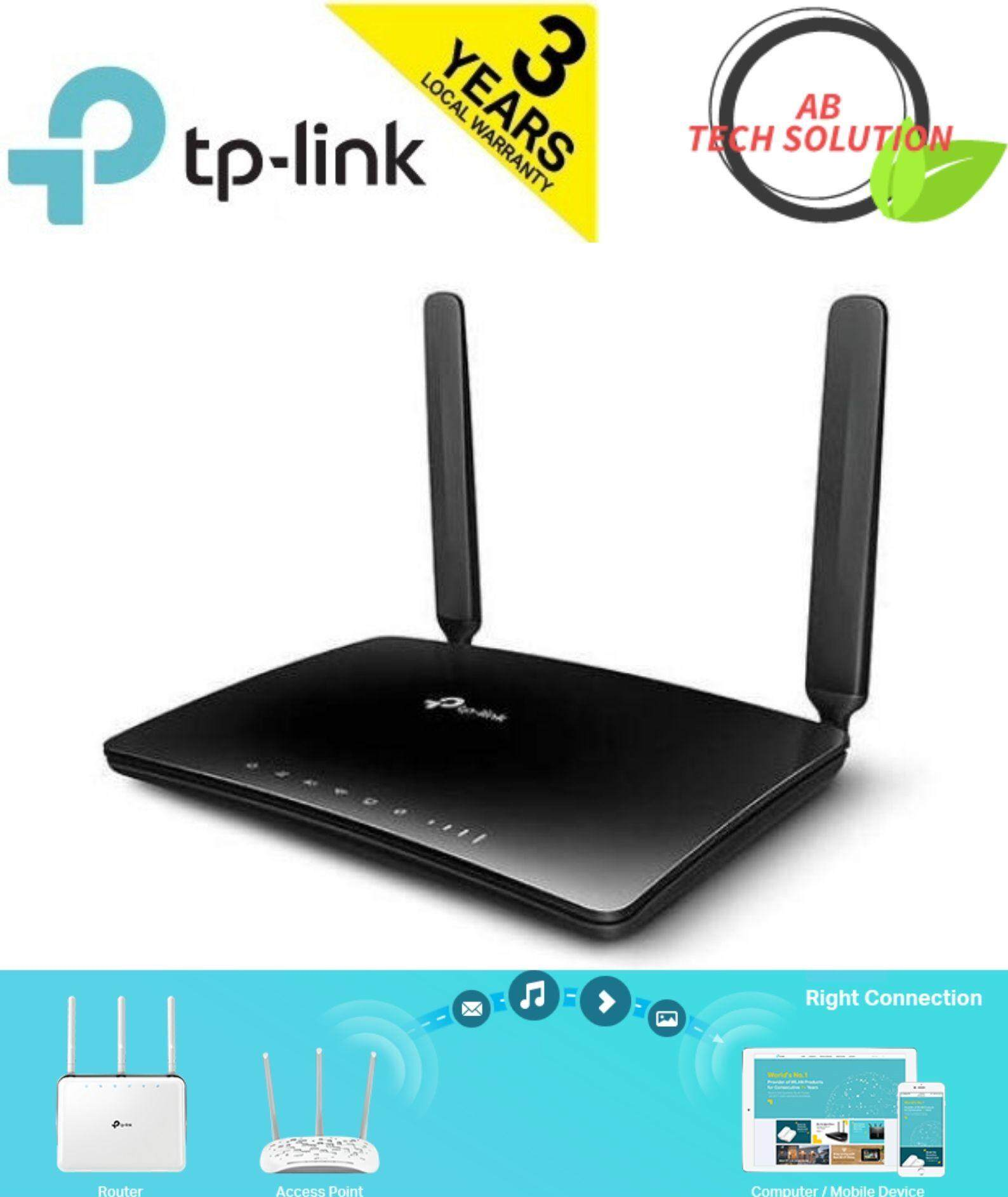 TP-LINK MR400 AC1200 Dual Band 4G LTE Wireless 2 4Ghz + 5Ghz WiFi Modem  Router For All Telco Direct SIM Card