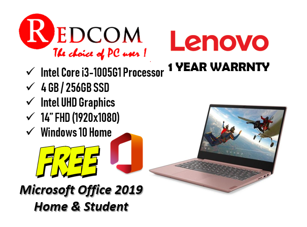 Lenovo S340-14IIL 81VV007BMJ 14 FHD Slim Laptop (i3-1005G1/ 4GB/ 256GB SSD/ Integrated/ W10+H&S) Malaysia