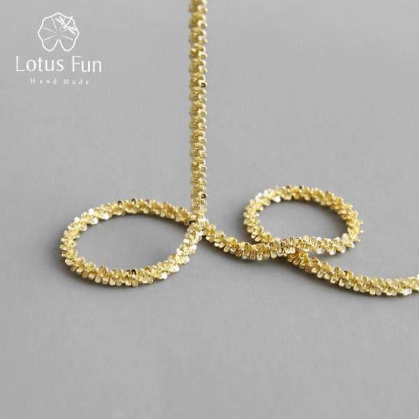 Lotus Fun Minimalist 18K Gold Gypsophila Vòng Cổ Xương Đòn Đơn Giản Phù Hợp Với Tất Cả Phổ Biến Cho Phụ Nữ 925 Trang Sức Bạc Nguyên Chất