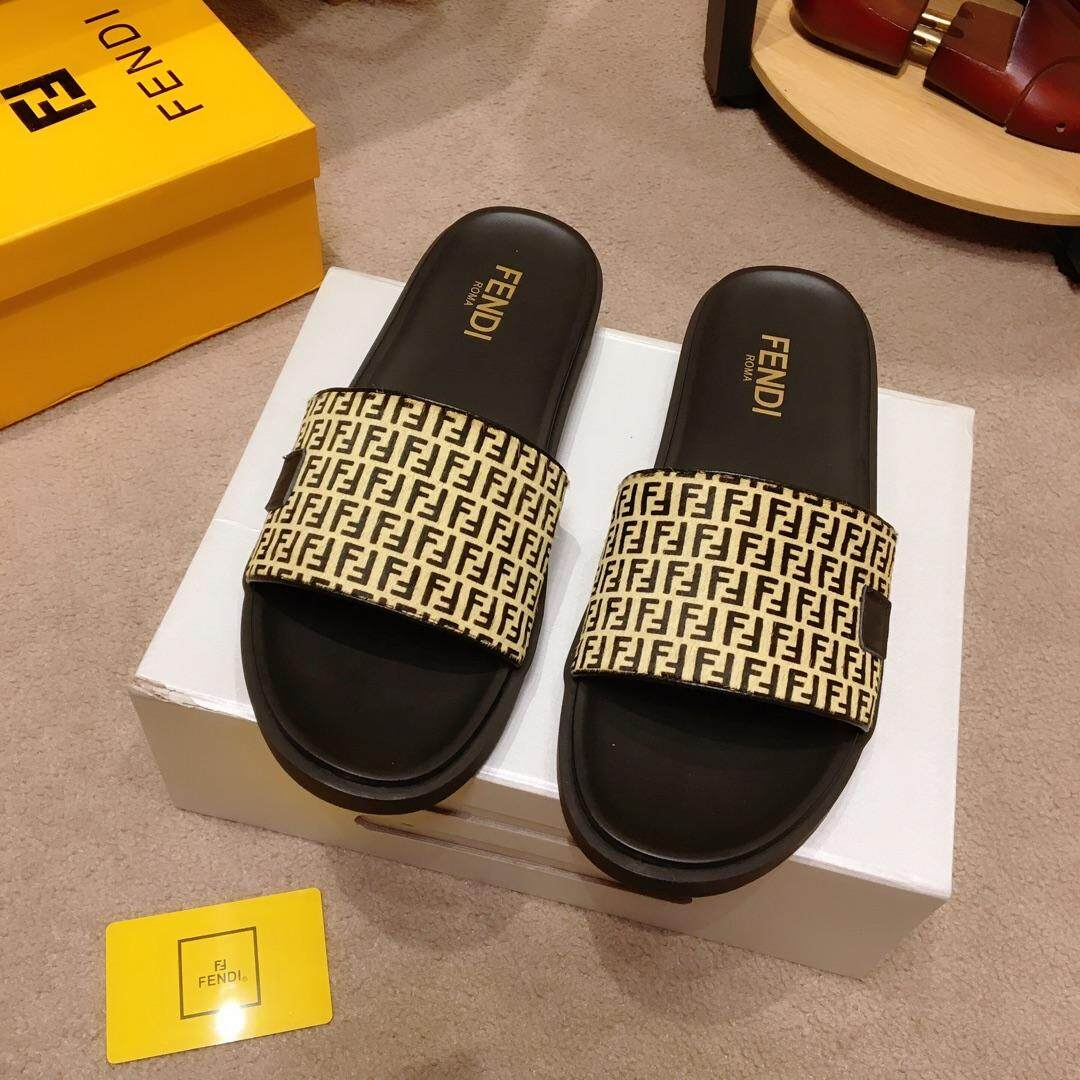 Fendis new men's boutique sandals official website synchronously sell exclusive high quality low price fashion, quality focus