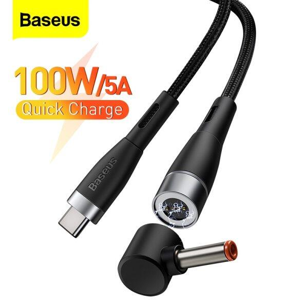 Baseus 2m 100W Magnetic USB Type C to DC Cable For Lenovo ThinkPad IdeaPad Power Charging Laptop Notebook accessories Wire Cord