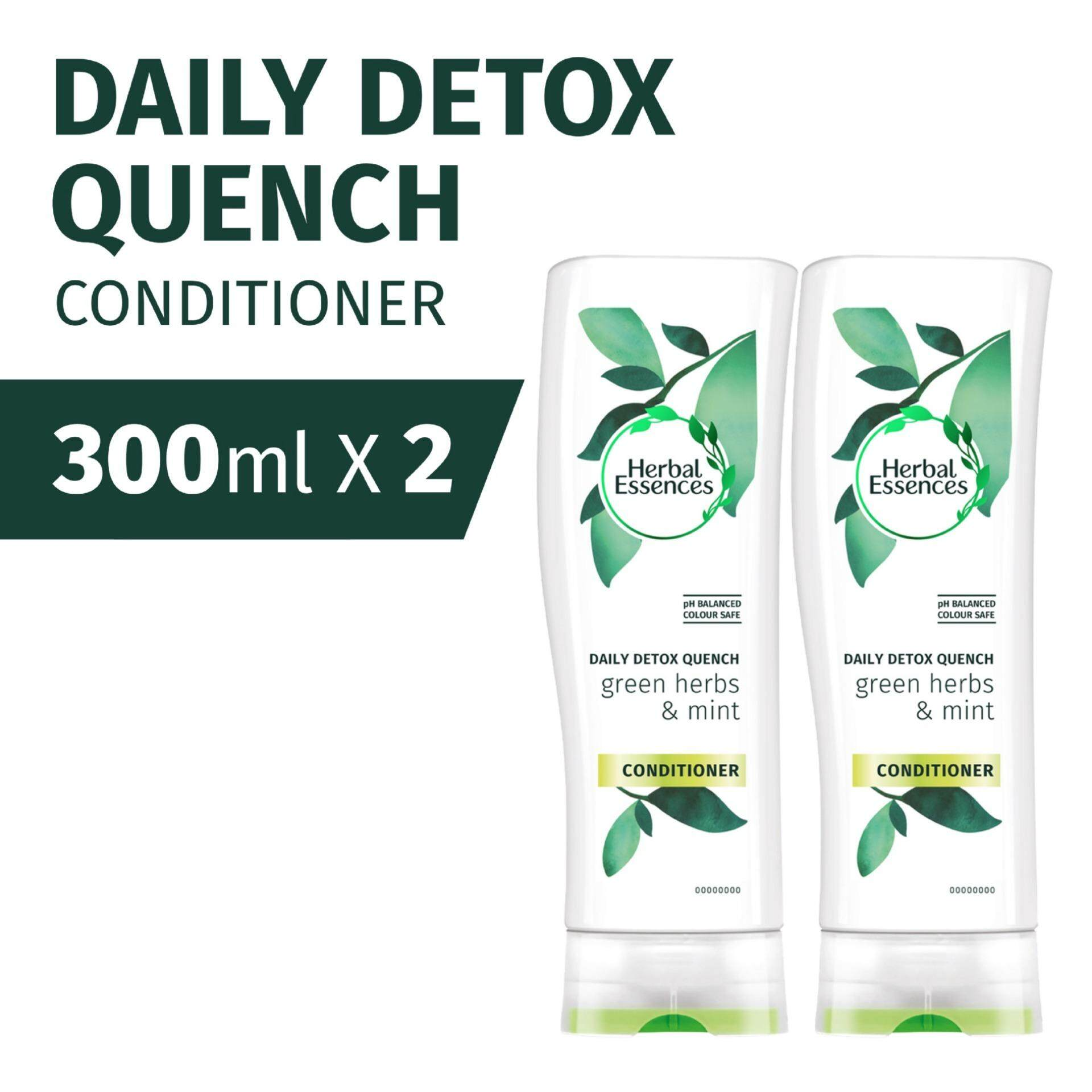 Herbal Essences Daily Detox Quench Conditioner 300ml [bundle Of 2] By P&g Official Store.