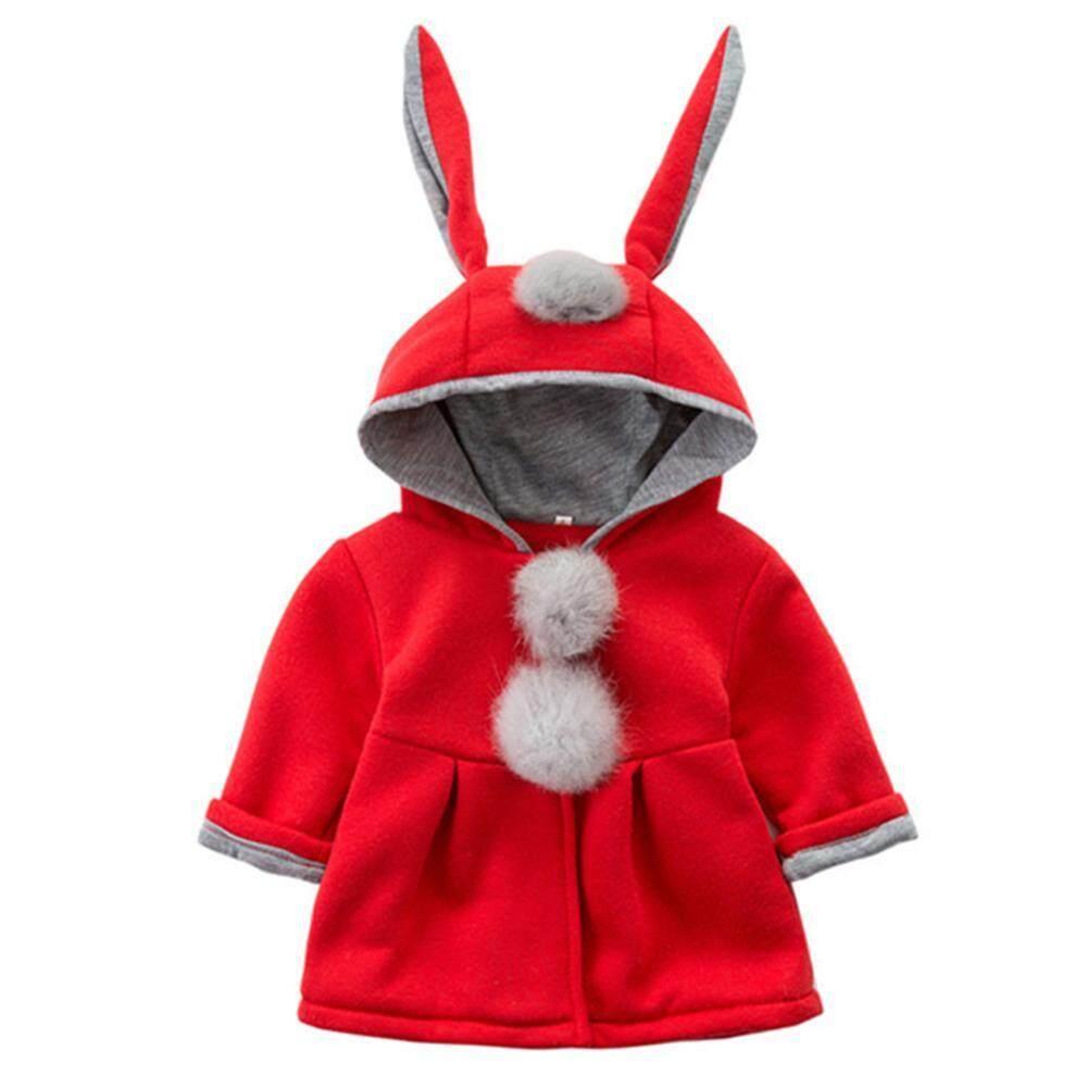 Cute Hooded Bunny Ears Kids Coat Baby Girl Warm Winter Cotton Jacket By Cherishone.