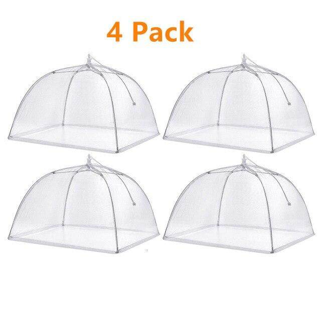 4/8pcs Food Net Cover Foldable Dustproof Fly Large Pop-Up Mesh Screen Protect Food Cover Tent Dome Net Umbrella Picnic Removable.