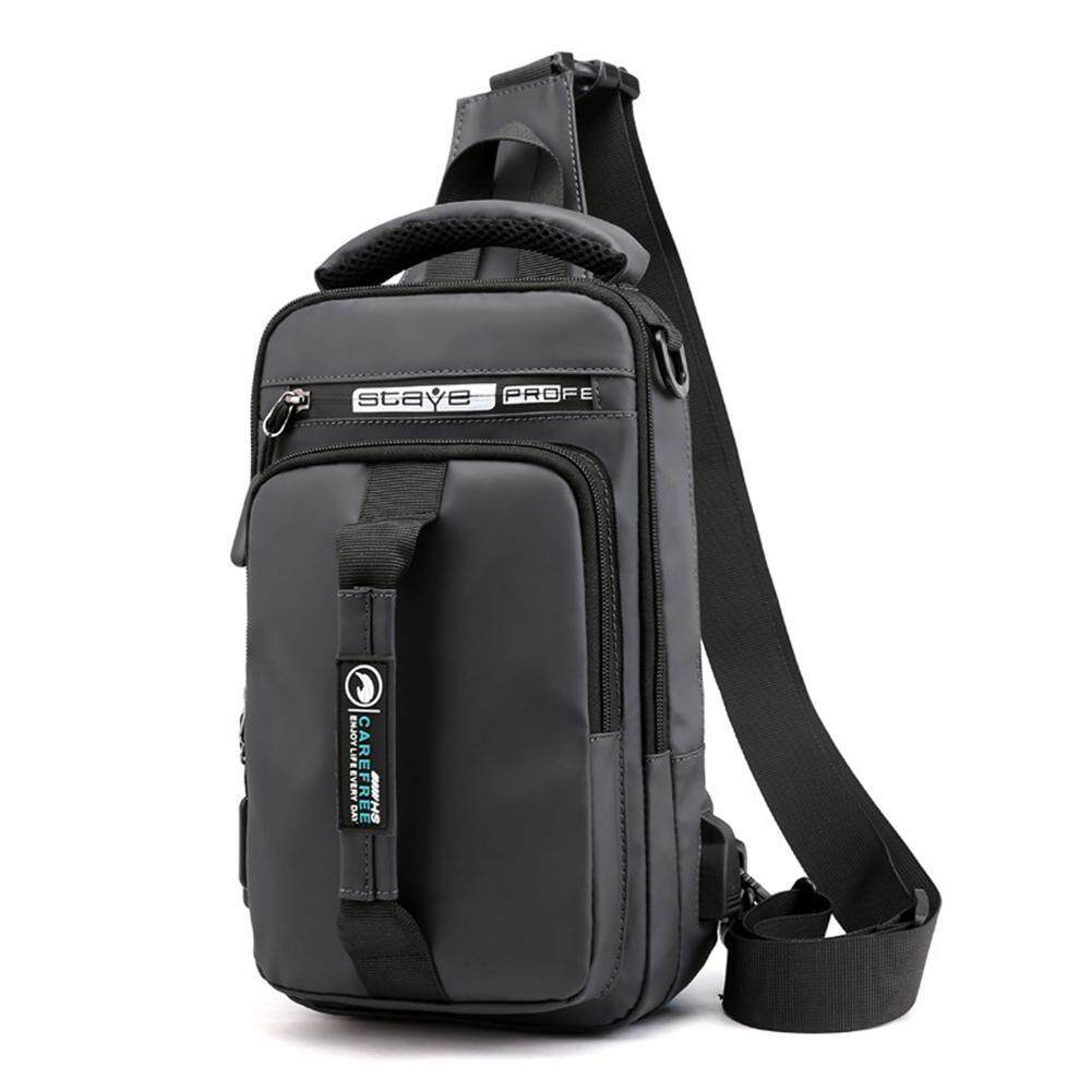 OnLook Multifunctional Man Crossbody Bag Chest Shoulder Sling Pouch Nylon + Polyester Lining, Shoulder Strap Adjustable Detachable MessageBag image on snachetto.com