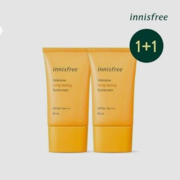 Buy innisfree INTENSIVE LONG LASTING SUNSCREEN SPF50++++ 50ml 1+1 2ea Singapore