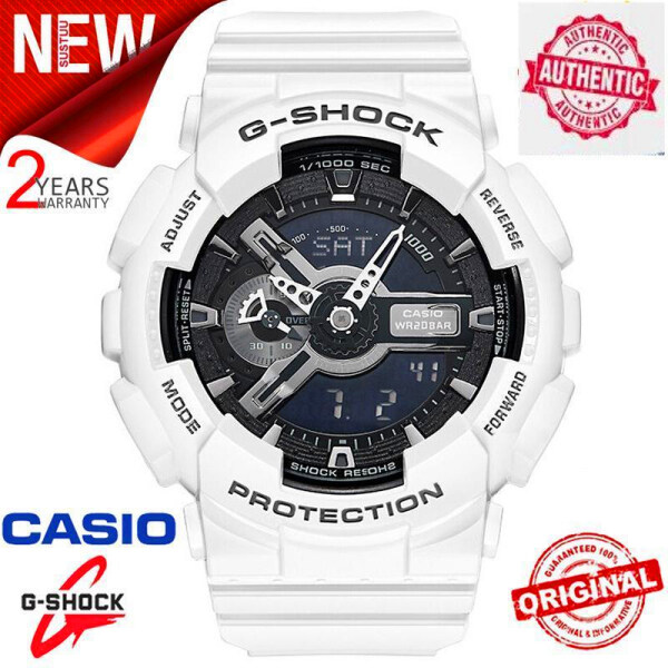 (HOT SALE with FREE SHIPPING) Original G Shock GA-110GW-7A Men Sport Watch 200M Water Resistant Shockproof and Waterproof World Time LED Auto Light Wrist Sport Digital Watch with 2 Year Warranty GA110/GA-110 Malaysia