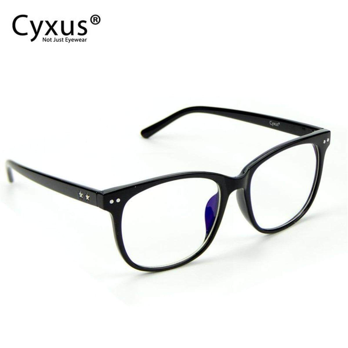 69481d2aa4 Cyxus Blue Light Blocking Computer Glasses for Anti Eye Fatigue Oversized  Frame Men Women Eyewear