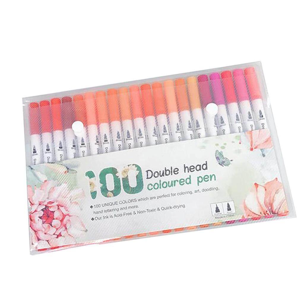 Mua BolehDeals 100 màu Mịn lót Bút Dual Đầu Bút Đánh Dấu cho vẽ phác thảo vẽ móng nghệ thuật