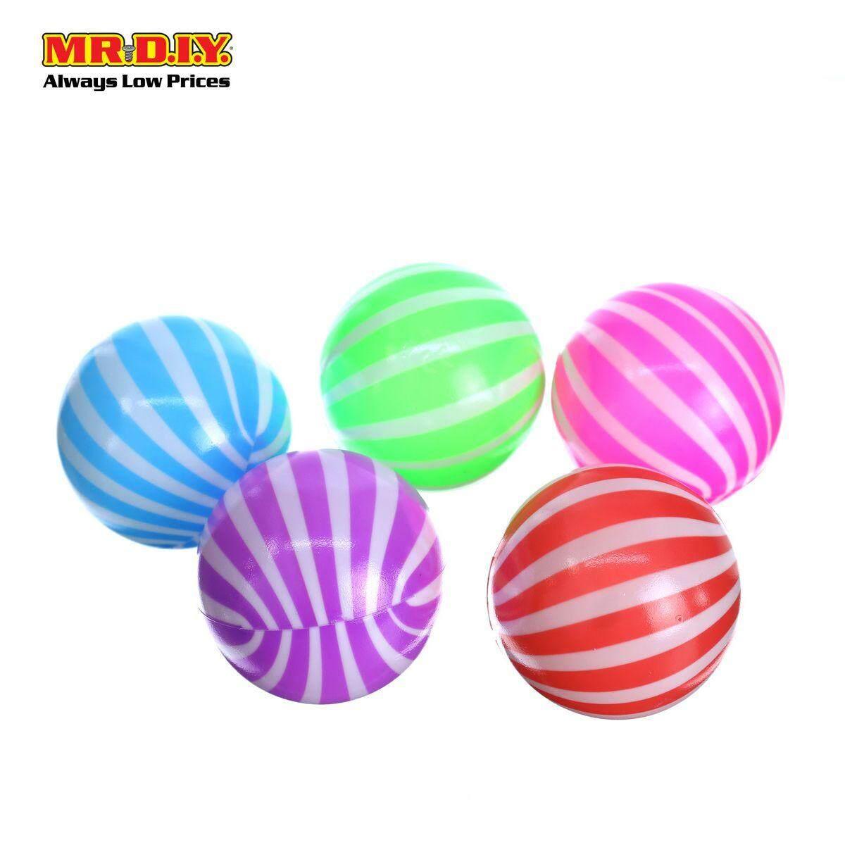 Plastic Ball 7cm ( 5 Pcs ) By Mr Diy.